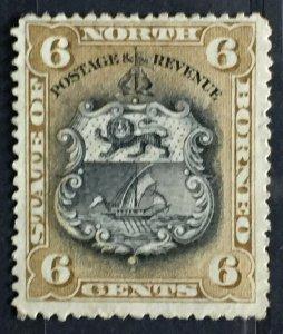 MALAYA 1894 NORTH BORNEO 6c MH SG#73 M2639