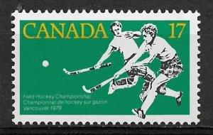 1979 Canada 834 Women's Feild Hockey Championship MNH
