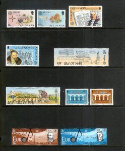 ISLE OF MAN Europa (62) All Mint Unused Stamps Most Lightly Hinged