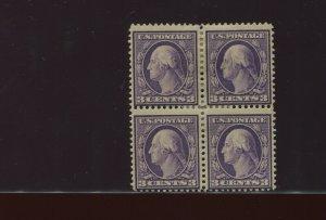359 Washington RARE BLUISH PAPER Block of 4 Stamps with APEX Cert (359-APS1)
