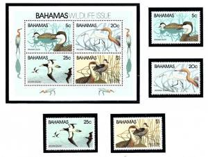 Bahamas 492-95a MNH 1981 Bahama Ducks