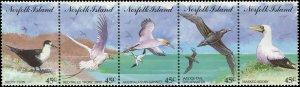 Norfolk Island 1994 Sc 565 Birds Gannet Tern Shearwater Booby Tropicbird CV $7