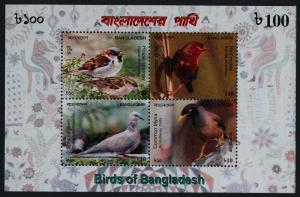 Bangladesh 772 s/s MNH Birds