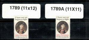 1789 & 1789A John Paul Jones Set Of 2 Mint/nh FREE SHIPPING (A-321)
