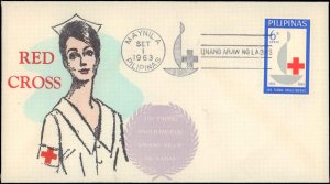 Philippines, Worldwide First Day Cover, Red Cross, Medical