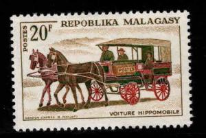 Madagascar Scott 375 MH* mail coach stamp