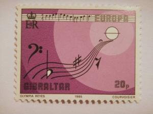 GIBRALTAR, 1985 20p  MNH Europa. European Music Year SG 516 Value £ 0.30
