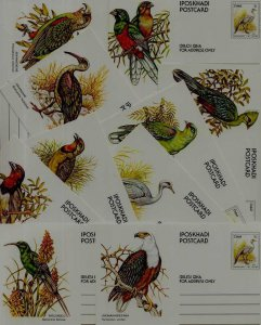 Ciskei 10 unused pre-stamped cards Birds
