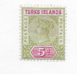 Turks & Caicos #57 MH Remants CAT VALUE $21.00