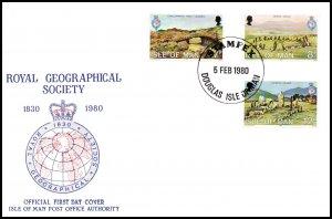 Isle of Man 163-165 U/A FDC