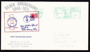 U.S.A.– 1971 Silver Anniv. First Convention Cachet