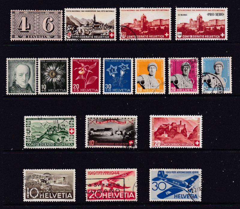 Switzerland a small M&U lot from 1940's