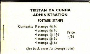 Tristan da Cunha 1965 SG #SB4 Booklet 1965 Queen Elizabeth II Scenics