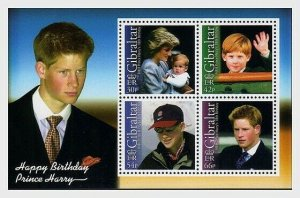 2002  GIBRALTAR  -  SG. MS1024-  PRINCE HARRY 18th - UNMOUNTED MINT