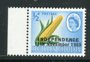RHODESIA; 1965 Independence Optd. QEII Pictorial issue MINT MNH 1/2d. value