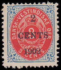 1902 Danish West Indies #24, Complete Set, Hinged