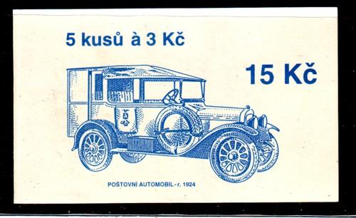 Czech Rep Sc 2891 Brno Post Auto stamp booklet mint NH