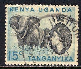 Kenya Uganda & Tanganyika; 1958: Sc. # 105: O/Used Single Stamp