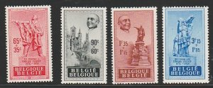 BELGIUM B455-8 MINT NEVER HINGED COMPLETE