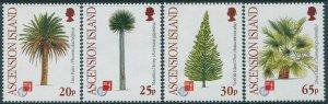 Ascension 1997 SG704-707 Hong Kong Stamp Exhibition Trees set MNH