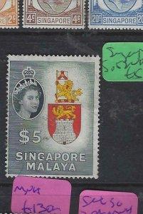 SINGAPORE  (PP2901B)  QEII   $5 SG 52   VFU
