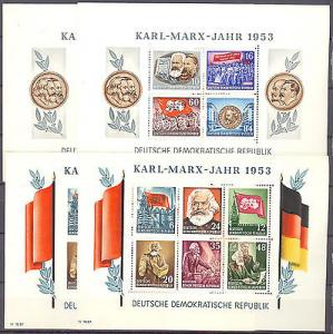 GDR #144 and #146 Mint perforated and imperforated  compl...