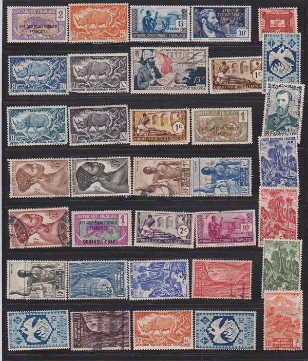 LOT OF DIFFERENT STAMPS OF FRANCE COLONIES MINT& USED (35) LOT#135