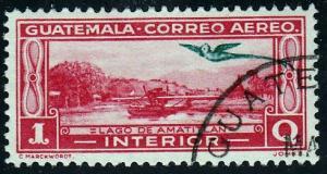 Guatemala #C45 Lake Amatitlan With Quetzal Ovpt. 1935 MLH