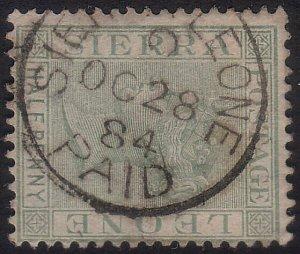 SIERRA LEONE 1884 QV ½d : SIERRA LEONE PAID cds............................60251