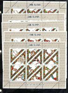 COOK ISLANDS #254-258 1969 3RD SOUTH PACIFIC GAMES MINT VF NH O.G SHEET 10