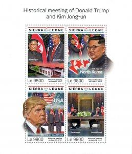 Sierra Leone Donald Trump Stamps 2018 MNH Kim Jong-un Famous People 4v M/S