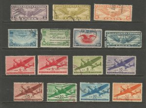 US Postage Stamps Used (15 stamps)
