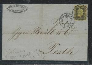 GERMANY PRUSSIA (P1906B) EARLY LETTER FROM BRESLAU  SC 3