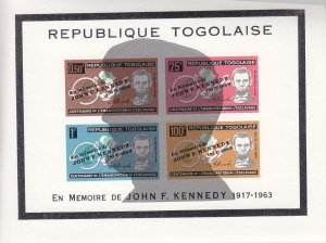 Togo: Kennedy Memoria;, Sc #C41, S/S, W/Silhouette (S18096)