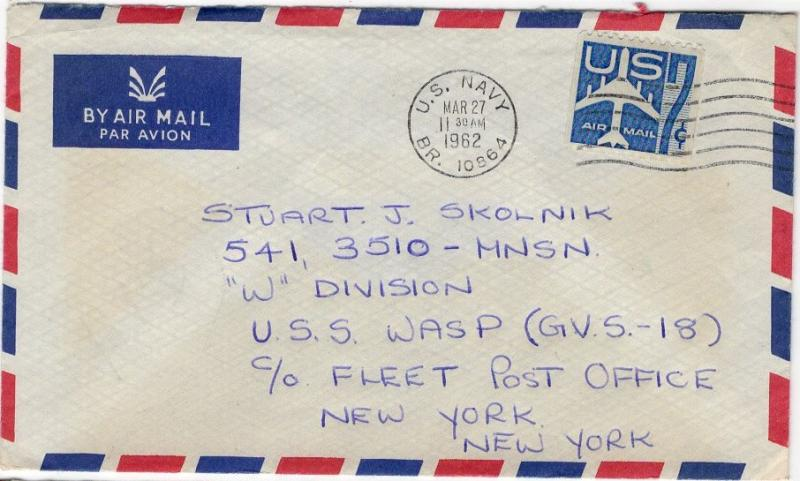 UC33 Blue - Air Post Entire - Colored Border - Navy/Fleet Post