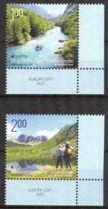 Bosnia / Serbian Post 2012 Europa CEPT Visit Landscapes set of 2 MNH