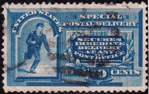 US STAMP #E4 1894 10¢ Messenger Running Special Delivery USED thin $110