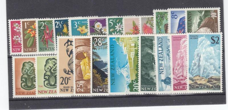 NEW ZEALAND # 382-404 excl. 400  MNH  VARcts  SCENE /FLOWERS ISSUES 22 STAMPS