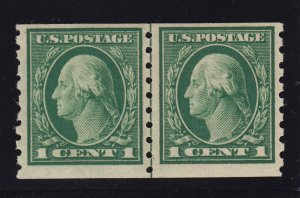 412 Line Pair VF OG mint never hinged nice color cv $ 250 ! see pic !