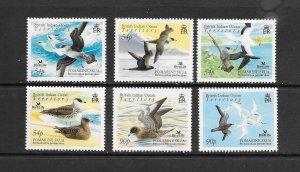 BIRDS - BRITISH INDIAN OCEAN TERRITORY #335-40   MNH