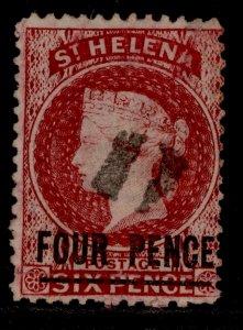ST. HELENA SG13, 4d carmine, USED. Cat £50.