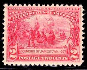 US Stamp #329 2c Carmine Jamestown MINT NH SCV $80
