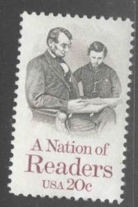 USA Scott 2106 MNH* Lincoln readingn stamp