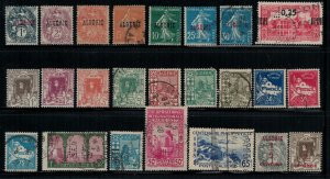Algeria Collection of 24 different earlies, mint & used