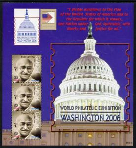 Nevis 2006 Washington Stamp Exhibition (Mahatma Gandhi) p...