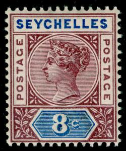 SEYCHELLES SG11, 8c brown-purple & ultramarine, NH MINT. Cat £15.