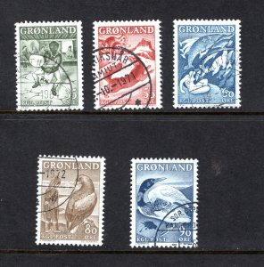 Greenland 41-45,   VF, Used, Complete Set,   CV $8.25  ... 2510019