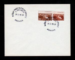 TURKEY ANKARA FIRST DAY COVER FDC 1958