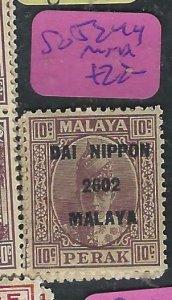 MALAYA  JAPANESE OCCUPATION PERAK  (P2807B) DN 10C  SG J249   MNH