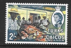 TURKS & CAICOS IS. SG283 1967 2/- DEFINITIVE MNH